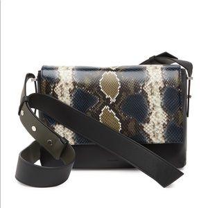 ALLSAINTS Versailles Snakeskin Emboss Shoulder Bag